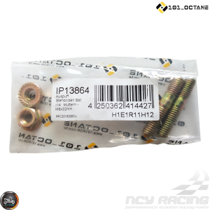 101-Octane Exhaust Stud M6x32mm w/Nut Set (QMB, GY6)