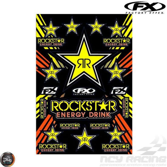 Factory Effex Rockstar Sticker Set (A3/B Size Sheet)