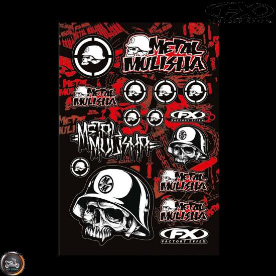 Factory Effex Metal Mulisha Sticker Set (A3/B Size Sheet)