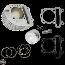 Hoca Cylinder 63mm 180cc Ceramic Nikasil Bore Kit w/Cast Piston Fit 54mm (GY6)