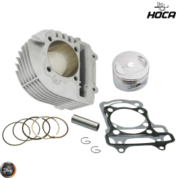 Hoca Cylinder 63mm 180cc Ceramic Nikasil Bore Kit w/Cast Piston Fit 54mm (GY6)