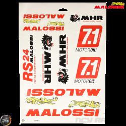 Malossi Sticker Set (A3 Size Sheet)