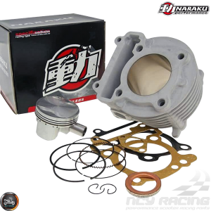 Naraku Cylinder 59mm 155cc Ceramic Bore Kit w/4V Forged Piston (BWS, Zuma 125)