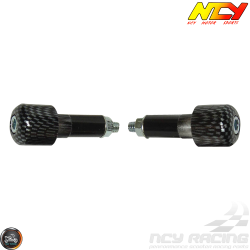 NCY Bar-End 7/8in CNC Carbon Fiber Style Set (Universal)