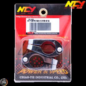 NCY Handlebar Clamp 7/8in Chrome Set (QMB, GY6, Universal)