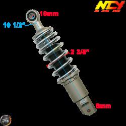 NCY Shock 265mm Adjustable Performance Chrome (Honda Ruckus)