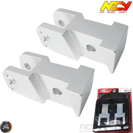 NCY Shock Relocating Bracket Silver Set (QMB, GY6, Universal)