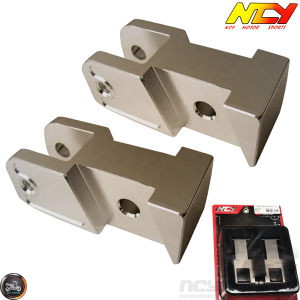 NCY Shock Relocating Bracket Bronze Set (QMB, GY6, Universal)