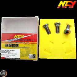 NCY Brake Disc Bolt M8 Electroplated Titanium Set (QMB, GY6, Universal)