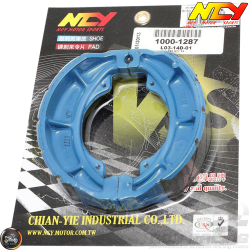 NCY Brake Shoes Blue (Genuine, GY6)