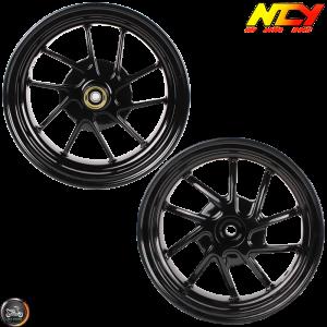 NCY Rim Set 10in Black 10-Spokes (Honda Ruckus)