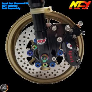 NCY Brake Caliper 4 Piston Black (Honda Ruckus)