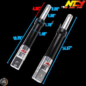 NCY Front Fork Black Set Performance Drum Type (Ruckus, Zoomer)