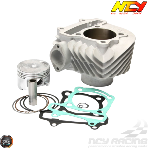 NCY Cylinder 58.5mm Ceramic Big Bore Kit w/Cast Piston Fit 54mm (GY6)