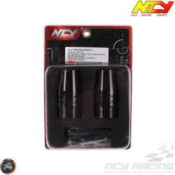NCY Frame Slider Guard Black Set (Ruckus, Zoomer)