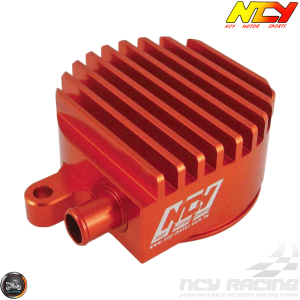 NCY Crankcase Breather High-Flow Billet Orange (Yamaha Zuma 125)