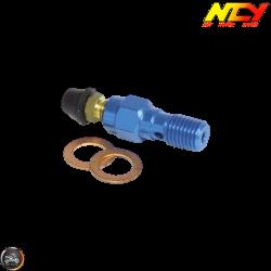 NCY Brake Bleeder Valve Blue (QMB, GY6, Universal)
