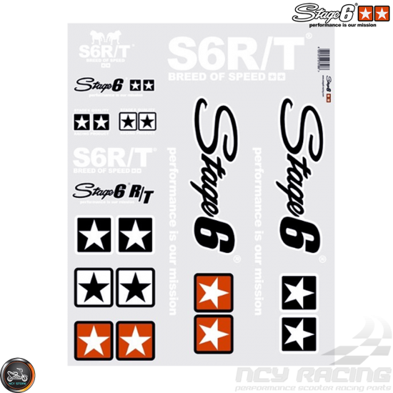 Stage6 MKII Sticker White Set (A2 Size Sheet)