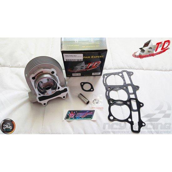 Taida Cylinder 58.5mm 155cc Big Bore Kit w/Cast Piston Fit 54mm (GY6)