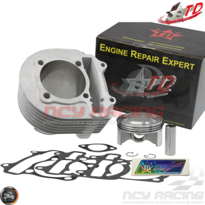 Taida Cylinder 67mm 232cc Ceramic Bore Kit w/4V Forged Piston Fit 57mm (GY6)