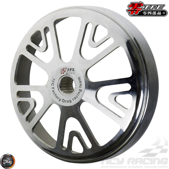 TFC Clutch Bell 10-Spokes Forged V1 Silver (GY6, PCX)