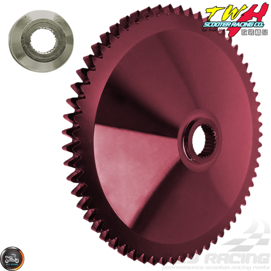 TWH Drive Face 114mm Forged Red +Star Him (Honda Dio)