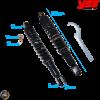 YSS Shock 330mm Twin Pro-X Black Set (Kymco)