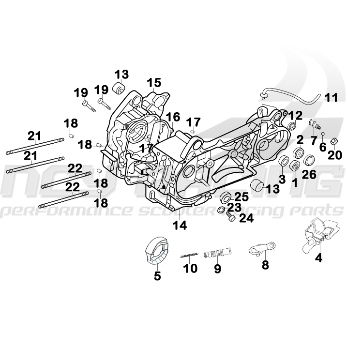 Chinese Scooter Parts Chinese Scooter Parts 150cc Gy6 Engine Diagrams